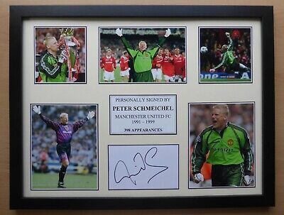Peter Schmeichel Signed Manchester United Multi Picture Career Display (16805) • 40£