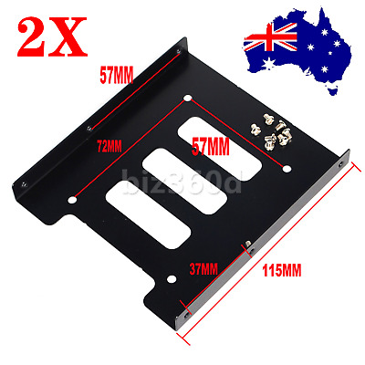 AU7.83 • Buy 2x 2.5  HDD / SSD To 3.5  Bay Mounting Adapter Bracket For Desktop Computer Case
