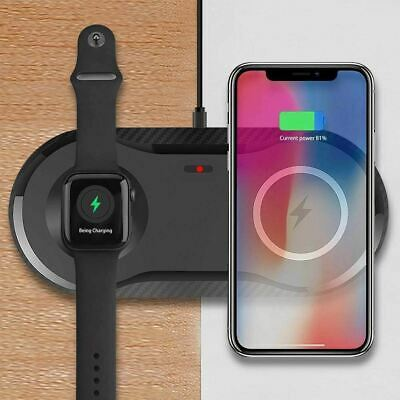 $ CDN29.95 • Buy 2 In 1 Fast Wireless Charger For Apple Watch Air Pods Pro 10W Qi IPhone Samsung
