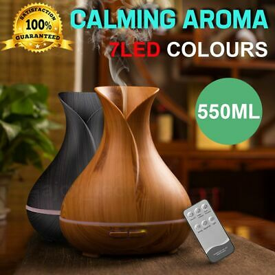 AU26.39 • Buy Aroma Aromatherapy Diffuser LED Essential Oil Ultrasonic Air Humidifier Purifier