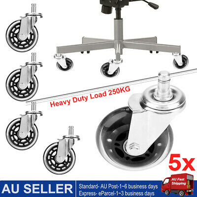 AU25.99 • Buy 5pcs 75mm Rollerblade Office Desk Chair Wheels Replacement Rolling Caster 3