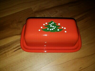 $44.75 • Buy Waechtersbach *christmas Tree* Covered Butter Dish...west Germany - Discontinued