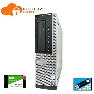 AU272 • Buy Dell Optiplex 9010 DT PC Intel Core I7-3770 @3.40GHz 8GB RAM 120GB SSD Win 10