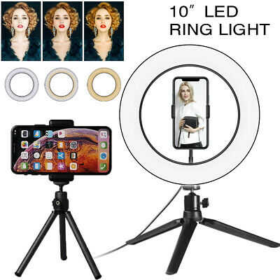 AU24.99 • Buy 10  Phone Selfie Ring Light With Stand Dimmable For Makeup Video Shooting Live