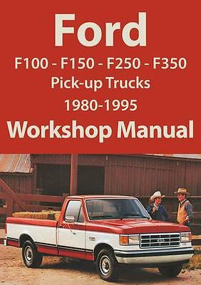 AU12.95 • Buy Ford F Series F100 F150-f350 Workshop Manual