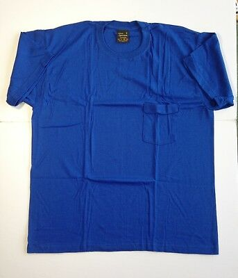 $ CDN7.99 • Buy Vintage Pocket T-Shirt Blue 50/50 Sportsman New Old Stock Made In Canada XL