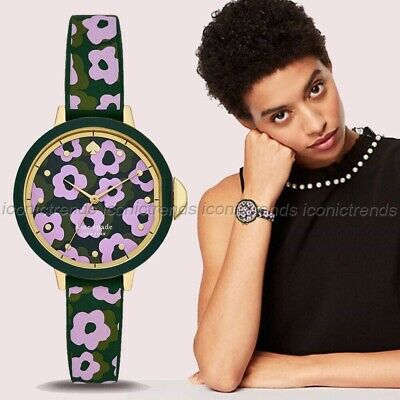 $ CDN66.33 • Buy NWT In Box 🌸 Kate Spade KSW1542 Park Row Pink Floral Green Gold Watch