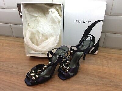 Nine West Size 8 Navy / Pewter Shoes • 9.99£