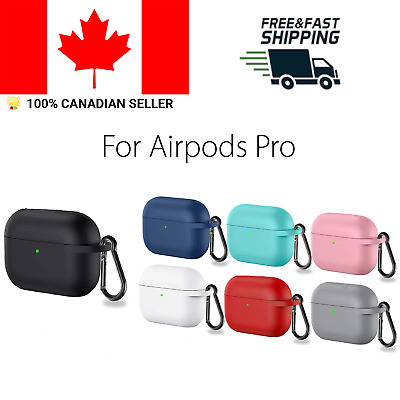 $ CDN6.15 • Buy Silicone Protective Case For Apple Airpods Pro Wireless Charging With Clip Cover