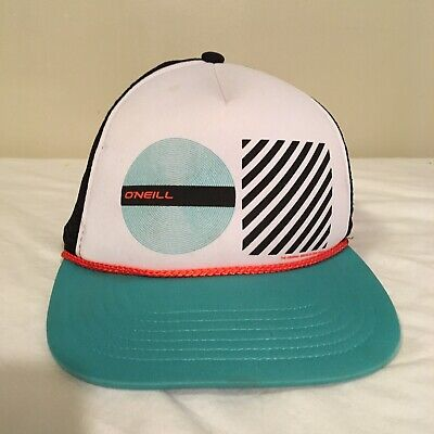 $14.99 • Buy ONeill Surfing Snapback Trucker Hat Cap Foamy Mesh Blue White Free Shipping