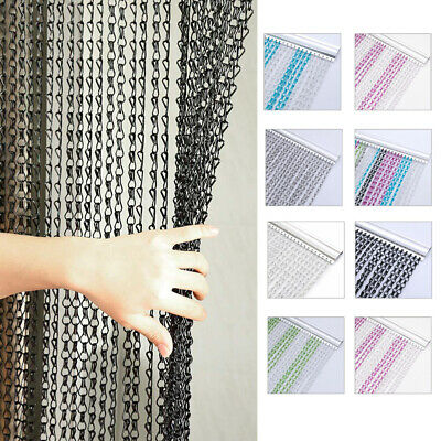 Metal Aluminium Chain String Door Curtain Fly Insect Pest Control Window Screen • 35.95£