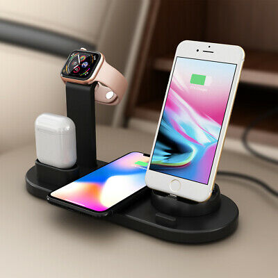 $ CDN22.51 • Buy 4 In 1 Charging Dock Charger Stand For Apple Watch Series/AirPods IPhone Station