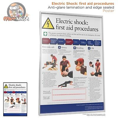 £4.99 • Buy HSE Health And Safety Electric Shock First Aid AED Poster A2 A3 A4 Laminated