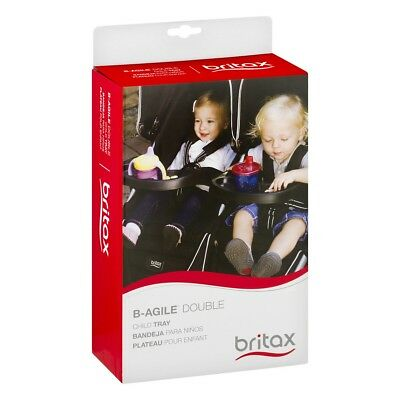Britax B-Agile Double Stroller Child Snack Tray Drink Holder Black New • 21.64£