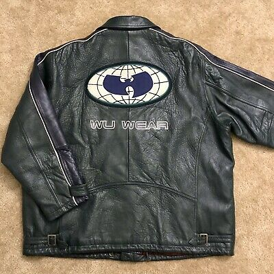 $ CDN1455.78 • Buy 🔴 Wu-Wear Jacket Size 3XL Wu-Tang Leather Vintage Rare Rza Gza Coat