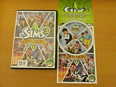 The Sims 3 Ambitions- Expansion Pack- Pc & Mac Game Vgc • 4.99£