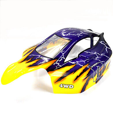 81363 Off Road Nitro RC 1/8 Scale Buggy Body Shell Yellow Blue HSP Cut Shell • 15.99£