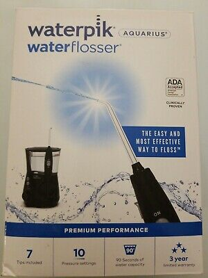 View Details WaterPik Waterflosser Aquarius Professional Dental Oral Irrigator Black WP-662CD • 45.95$