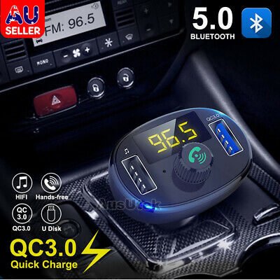 AU19.95 • Buy Handsfree Wireless Bluetooth FM Transmitter Car Kit Mp3 Player With USB Charger