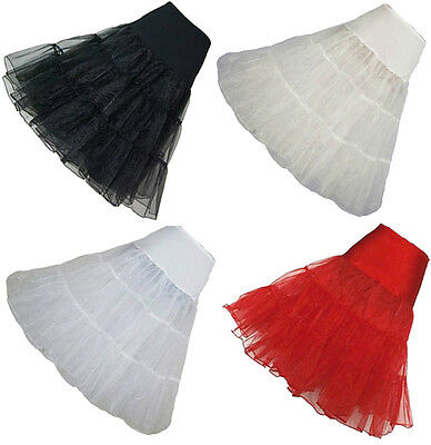 26  Retro Tutu Skirt 50s Petticoat Swing Vintag Net Rockabilly Long Underskirt  • 6.68£