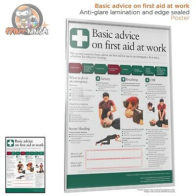 £8.99 • Buy HSE Health And Safety Basic First Aid At Work AED Poster A2 A3 A4 Laminated