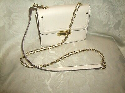 BCB Generation Ivory Cross Body Bag With Chain Strap  • 4.99£