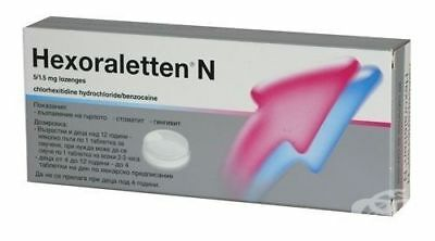 Hexoraletten® N 20 Lozenges- Relieves Pain & Irritation In The Mouth And Throat • 6.50£