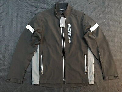 £46.13 • Buy Scania Truck Jacket Reflective Gear Black Soft Shell Large NWT