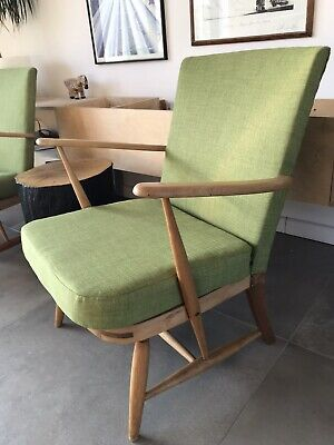Ercol Windsor Armchair 2nd Of A Pair (refinished And Reupholstered) • 400£