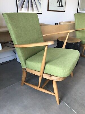 Ercol Windsor Armchair 1 Of A Pair (refinished And Reupholstered) • 400£