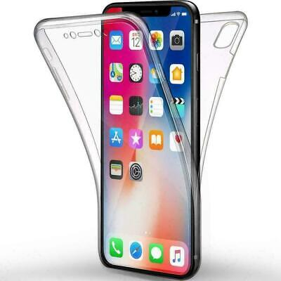 360 CLEAR Case For IPhone 11 Pro 12 XS Max XR 8 7 SE 2 Cover Silicone Shockproof • 3.99£