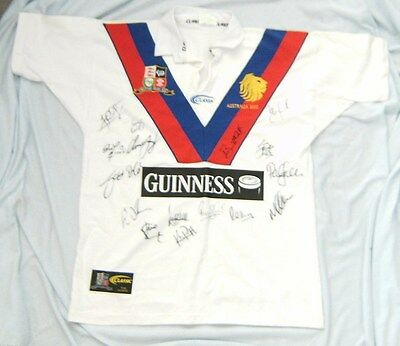 AU250 • Buy #mm.  2002  British Lions In Australia Rugby League Autographed Jersey