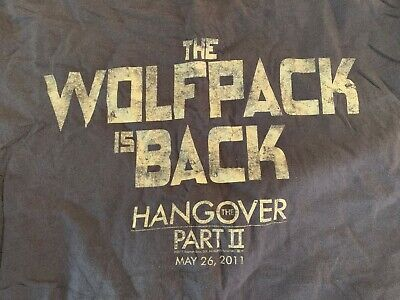 Hangover Part II 2 The Wolfpack Is Back Promotional Promo Small T-Shirt  • 15.46£