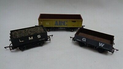 OO Gauge Mineral Wagon Dapol GW Bachmann ARC Tiger LMS With Coal - Set Of 3 • 19.99£