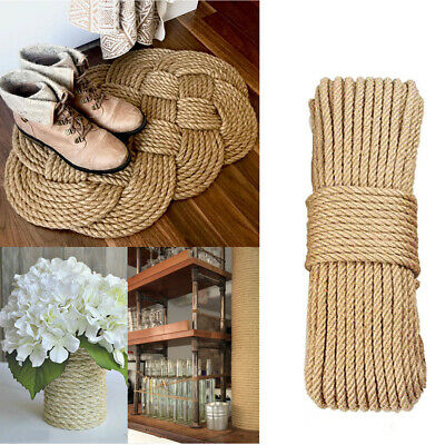 Natural Jute Hemp Rope Burlap Twine For Diy Crafts Gift Packing Cat Scratching • 15.54£