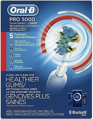 AU121.60 • Buy NEW Oral-B Pro 5000 Smart Series Rechargeable Electric Toothbrush