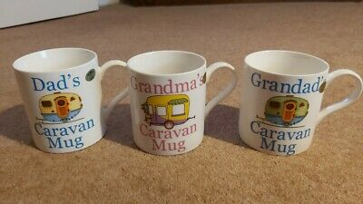 Dad, Grandma, Grandad Caravan Mug Fine China - Choose Style • 5.99£