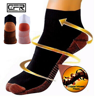 Copper Plantar Fasciitis Compression Socks Ankle Foot Arch Pain Relief Support I • 6.69£