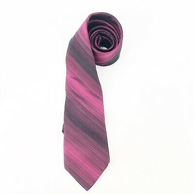 $13.99 • Buy Men's Ted Baker London Silk Pink Fuschia Neck Tie Silk Stripe Paisley