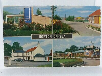 Postcard Hopton On Sea Constitutional Seafields & Ponderosa Holiday Camps 1966 • 11.75£