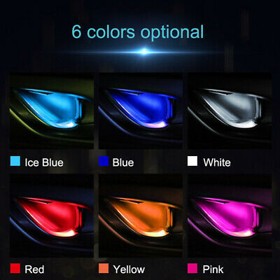 $9.87 • Buy Auto Car Door Bowl Handle LED Ambient Atmosphere Light Interior Accessories 12V