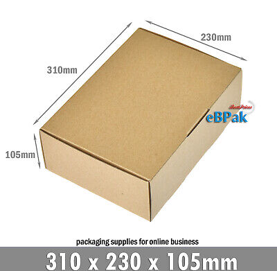 AU24.50 • Buy 20x Mailing Box A4 Brown Diecut Shipping Carton 310x230x105mm BM B2 BX2
