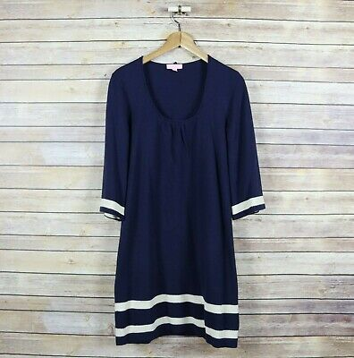 $9.99 • Buy LILLY PULITZER Women's 3/4 Bell Sleeve Mod Sweater Dress XS Extra Small Blue