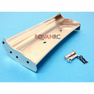 1/5 Scale Rovan Silver CNC Aluminum Wing Fit HPI Baja 5b SS 2.0 King Motor Buggy • 52.43£
