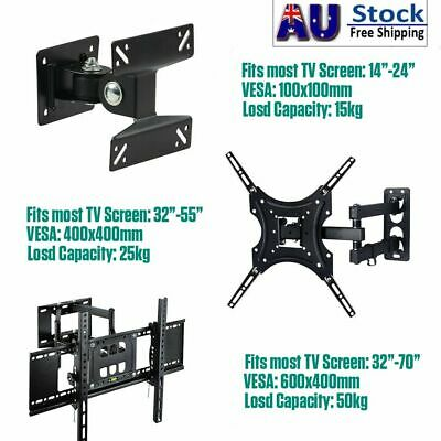 AU22.19 • Buy Full Motion TV Wall Mount Bracket Swivel Tilt 14 24 32 40 42 55 65 70 In LED LCD