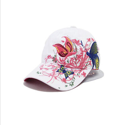 Women's Embroidered Flower And Butterfly Sport Outdoor Hat Baseball Cap  J • 4.39£
