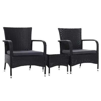 AU251.95 • Buy Outdoor Furniture Patio Set Wicker Rattan Outdoor Conversation Set Chairs Table