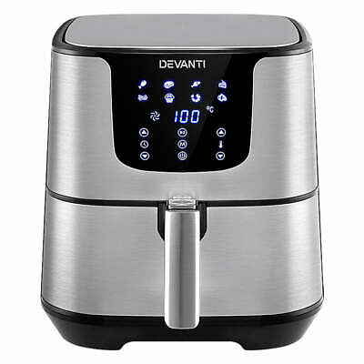AU120.33 • Buy Devanti Air Fryer 7L LCD Fryers Oil Free Oven Airfryer Kitchen Healthy Cooker