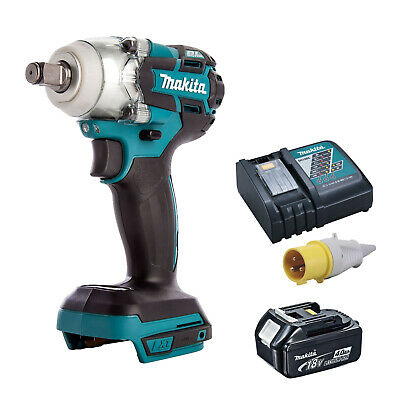 MAKITA 18V LXT DTW285 IMPACT WRENCH, BL1840 BATTERY DC18RC 110v CHARGER • 243.98£