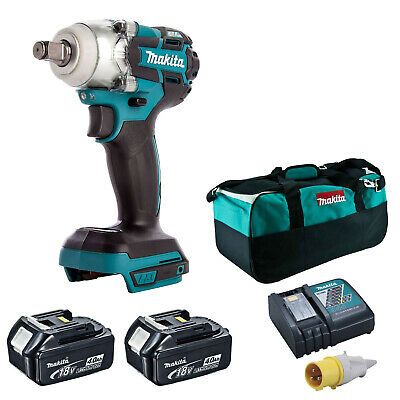 MAKITA 18V LXT DTW285 IMPACT WRENCH 2 BL1840 BATTERIES DC18RC 110v CHARGER BAG • 307.98£